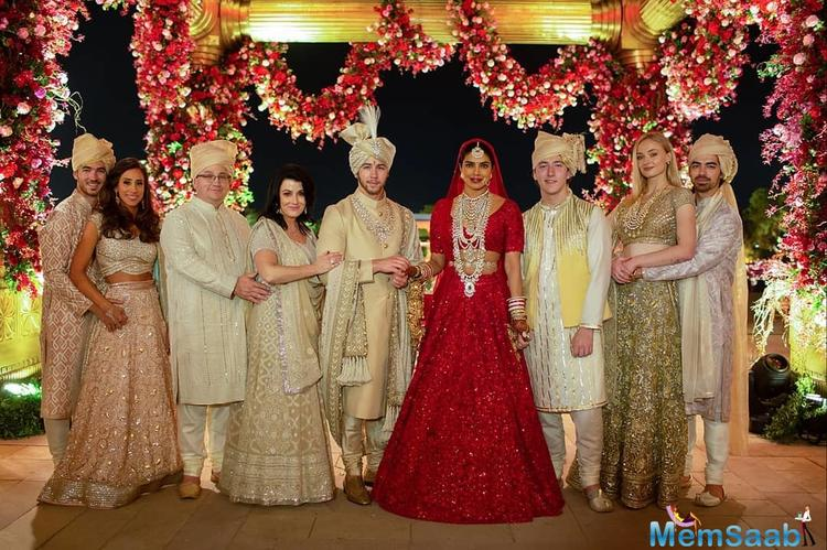 The couple thanked Ralph Lauren and Sabyasachi Mukherjee for designing their outfits.