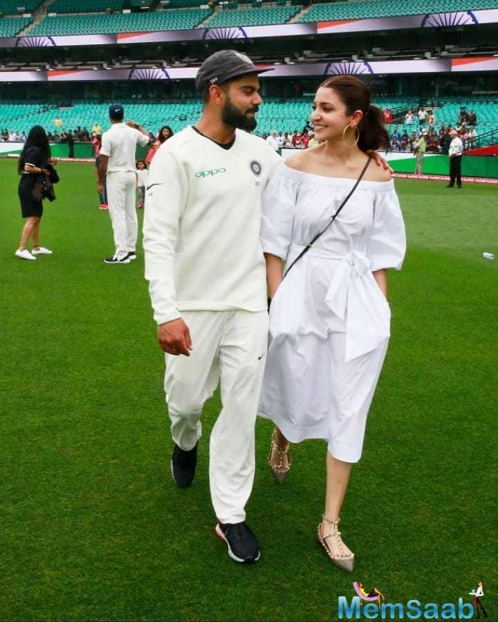 Anushka Sharma is on cloud nine today as her husband and Indian cricketer Virat Kohli led the number one-ranked Indian Test team to a 2-1 series win against Australia, their first-ever Test series triumph Down Under.
