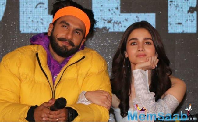 Alia plays Ranveer Singh's love interest in