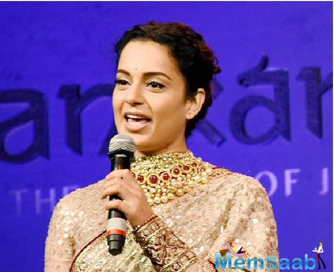 Kangana was interacting with the media at the music launch of Manikarnika - The Queen of Jhansi, along with film's music composer Shankar-Ehsaan-Loy, writer-lyricist Prasoon Joshi and other cast and crew members of the film.