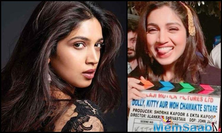 Bhumi Pednekar has completed shooting for the upcoming film Dolly Kitty Aur Woh Chamakte Sitare.