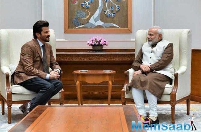 In the photographs, the Mr. India actor is seen greeting the PM. Last week, film fraternity members like Karan Johar, Ranveer Singh, Ranbir Kapoor, Alia Bhatt and Vicky Kaushal also met Modi in the capital.
