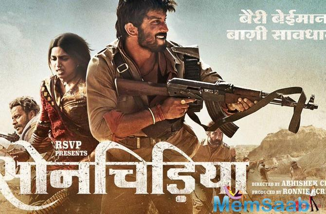 Starring Sushant Singh Rajput, Bhumi Pednekar, Manoj Bajpayee, Ranvir Shorey, and Ashutosh Rana in lead roles, Sonchiriya presents tale set in the era of dacoits.