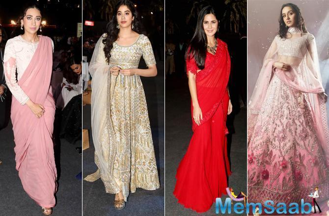 Bollywood divas Alia Bhatt, Shraddha Kapoor, Katrina Kaif, Karisma Kapoor, Janhvi Kapoor and many other were seen wearing their best outfits for Umang 2019, which was held at Bandra Kurla Complex [BKC], Bandra, Mumbai.