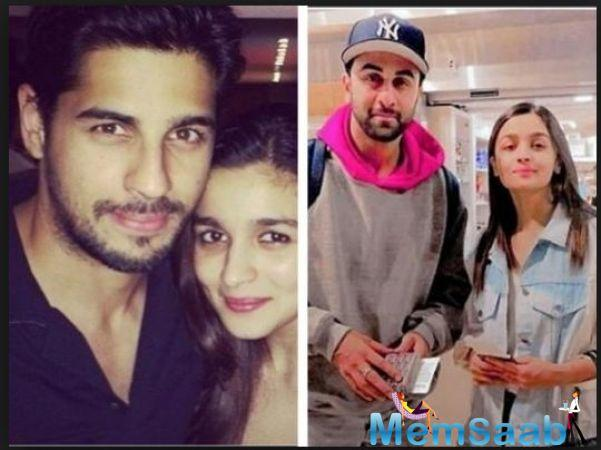 If sources are to be believed, now Alia is dating Ranbir Kapoor, before Ranbir she was in relationship with Sidharth Malhotra.