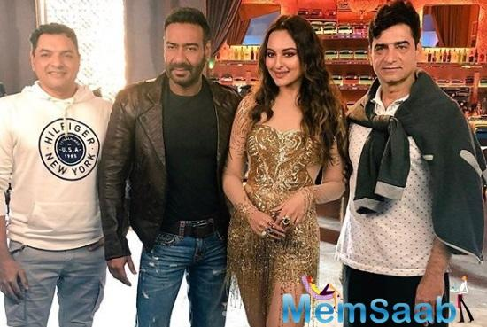 Sonakshi Sinha shared a few glimpses before the release of the remake of the iconic song, Mungda. The actress is showing off her sultry look in different attires, and oh boy, Sonakshi looks extremely hot!