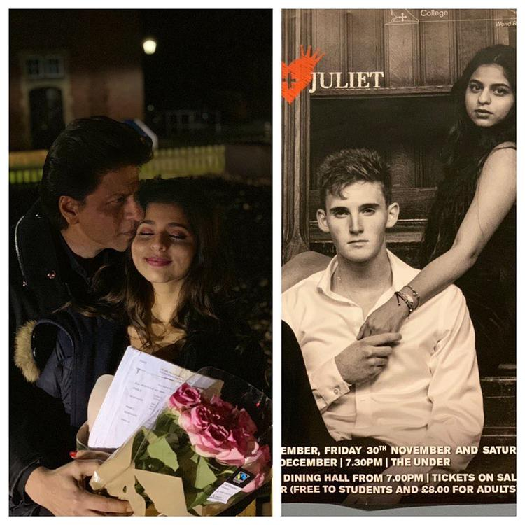 The picture of Suhana Khan is from one of the stage-plays from Ardingly College in London.