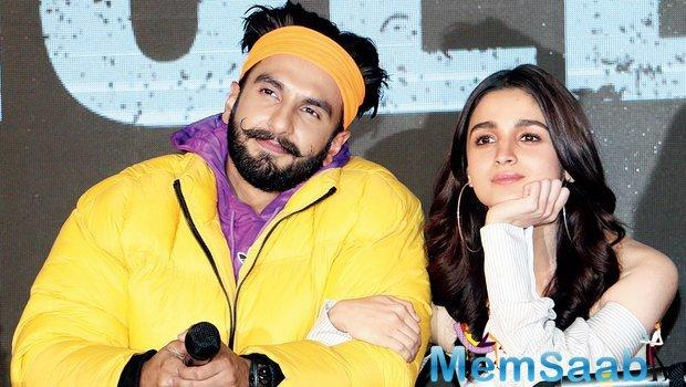 Ranveer Singh and Alia Bhatt, who will star in the Karan Johar directorial Takht, are not playing a couple in the film, as revealed by the actor himself.