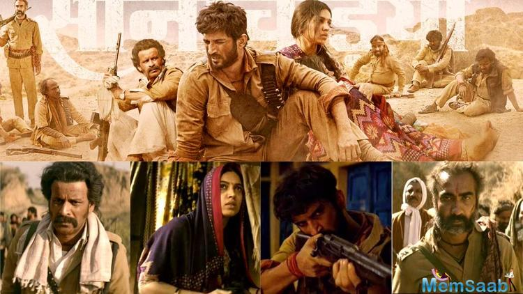 The story of Sonchiriya is set in the 1970s showcasing a small town ruled and dominated by dacoits. Multiple gangs fight over the struggle to attain power. The cast dons fierce avatars in sync with the theme of the film.