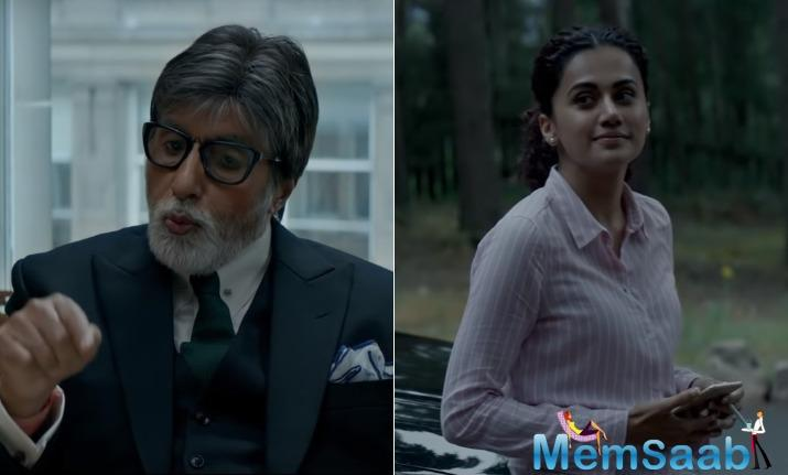 The film showcases Amitabh Bachchan playing the role of a high-profile lawyer, Taapsee, on the other hand, is seen playing a powerful businesswoman.
