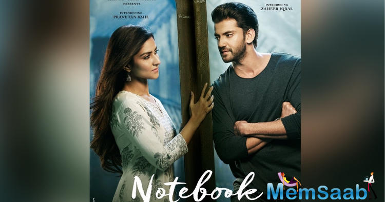 Salman Khan took to his social media to share the first poster of Nitin Kakkar's directorial Notebook starring Zaheer Iqbal and Pranutan Bahl.
