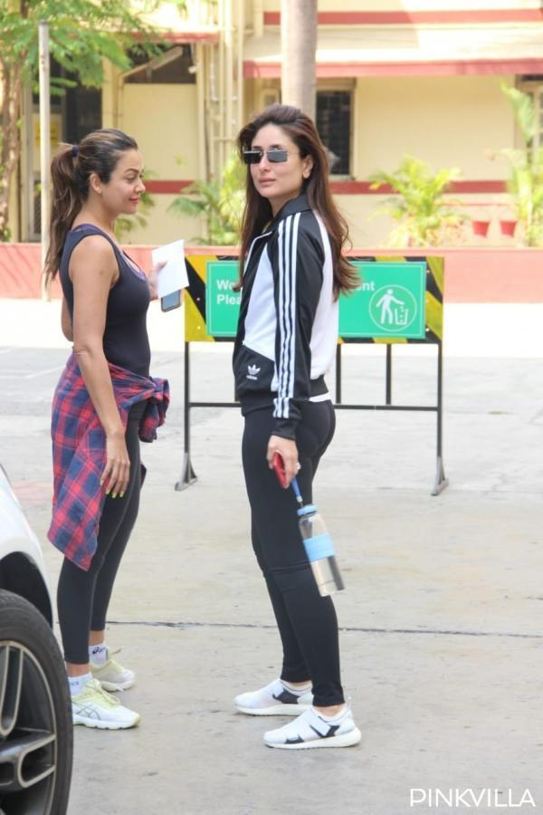 While Kareena is wearing an all-black outfit, it is amazing to see the dedication and determination with which these two besties are doing their squats while the trainer is closely keeping a check.