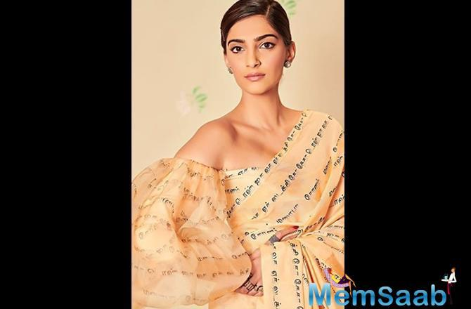 This name-change of Sonam Kapoor refers to her upcoming film The Zoya Factor as her character name is Zoya in the film.