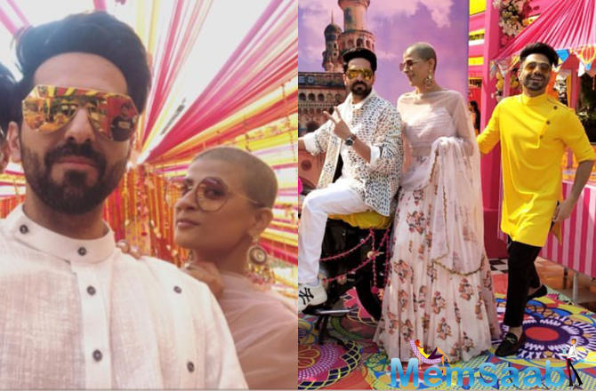 Guests Tahira Kashyap and Aparshakti Khurrana also went on to share some colourful pictures from the wedding ceremony. They shared the pictures on their respective Instagram stories.