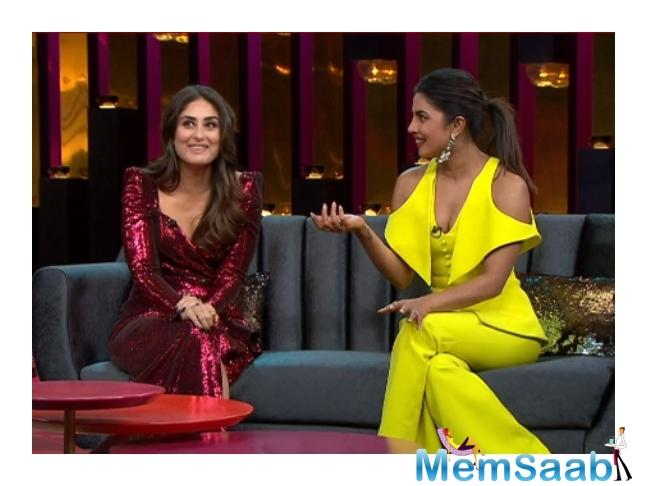 The three then talking about more and more leading female actors getting married at the peak of their careers nowadays and Kareena said she would credit for starting the trend.