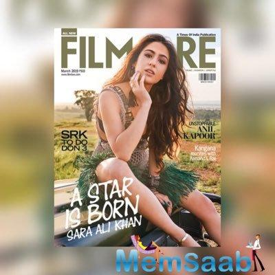 A while back Sara Ali Khan became the topic of discussion among the netizens when she took to Instagram to announce her debut as the cover girl of a popular Bollywood magazine.