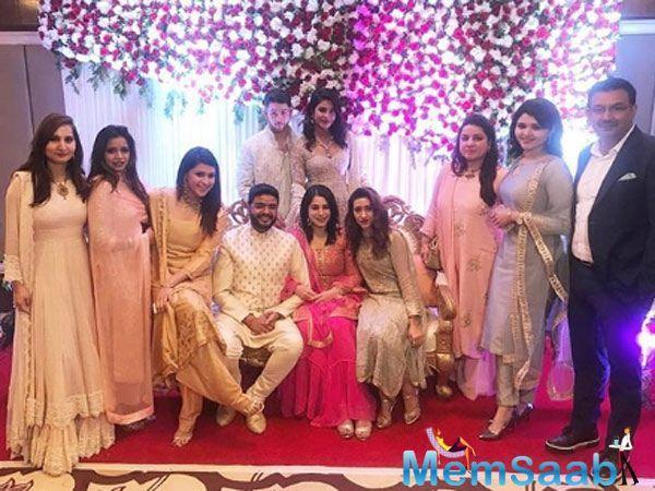 Priyanka Chopra Jonas and Nick Jonas were present at PeeCee's baby brother Siddharth Chopra's Roka ceremony in the capital today.