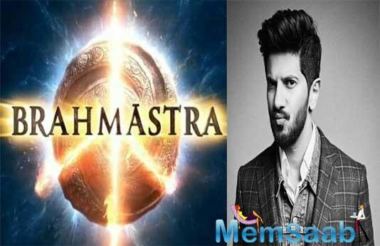 Dulquer Salmaan is blown away by Ranbir Kapoor, Alia Bhatt's upcoming film Brahmastra's logo.