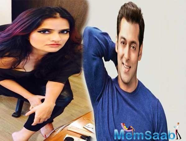 Sona Mohapatra has taken on Salman Khan yet again. When the star's latest tweet about his Eid release, Bharat, popped up on her timeline, it irritated the Ambarsariya singer.