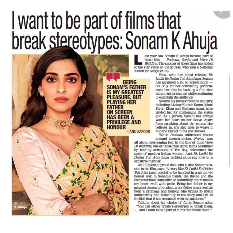 Be it her film choices like Ek Ladki Ko Dekha Toh Aisa Laga or the way she uses her presence on the dais, Sonam Kapoor goes the extra mile to say things nobody would dare to otherwise.