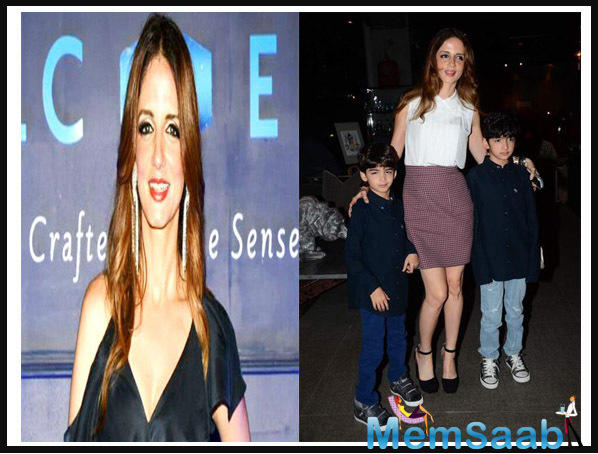 Sussanne shares two sons, Hridhaan and Hrehaan, with her former husband and actor Hrithik Roshan.