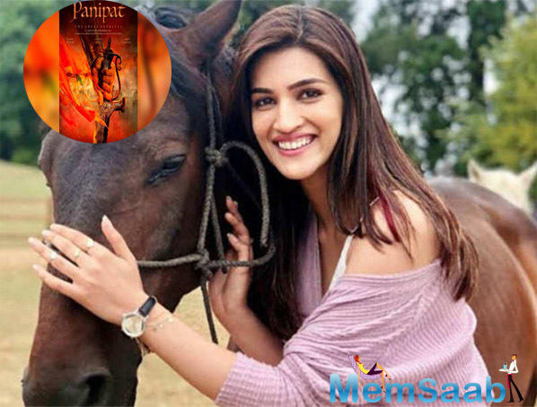 Since her character is a Maharashtrian, Kriti is also donning Kashta (nauvari) sarees. Talking about her attire, Kriti informs that her saree is not ready made.