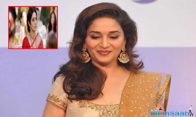 Madhuri Dixit Nene says it was tough and emotional for her to play a role which was to be originally essayed by Sridevi in