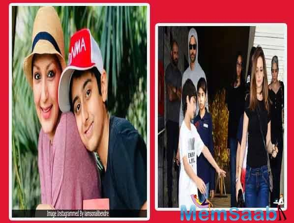 The actress on Sunday tweeted a photograph of herself along with her husband Goldie Behl, their son Ranveer, actor Hrithik Roshan, his former wife Sussanne Khan and their children Hridhaan and Hrehaan Roshan.