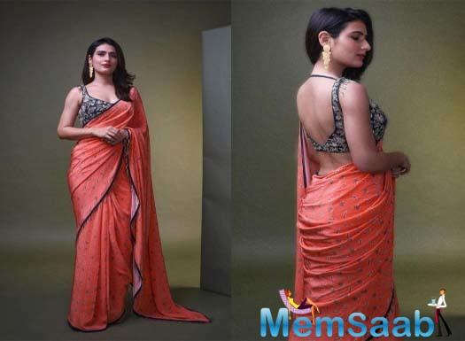 Further spreading her ethnic charm, Fatima made a startling appearance in a saree at a recent function.