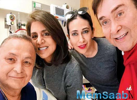 Ever since Rishi Kapoor took off for New York in September to seek treatment for an undisclosed illness, his siblings, Randhir Kapoor, Ritu Nanda and Rima Jain have been by his side.