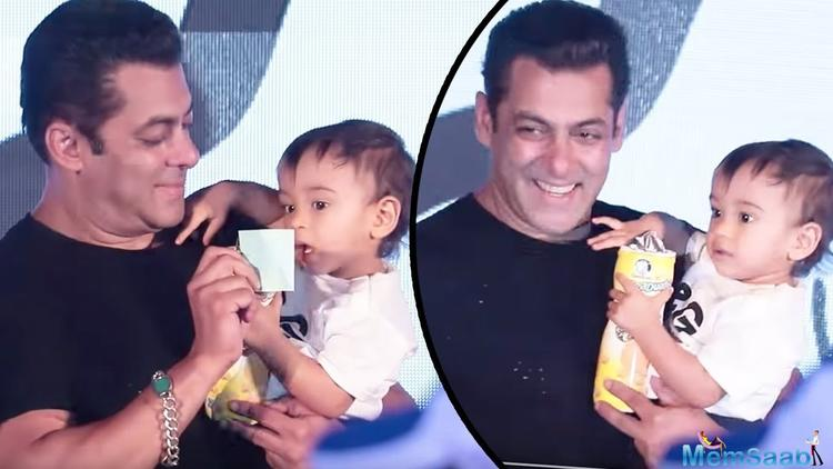Salman Khan's sister Arpita shared a heart-melting photograph of the superstar bonding with his nephew Ahil.
