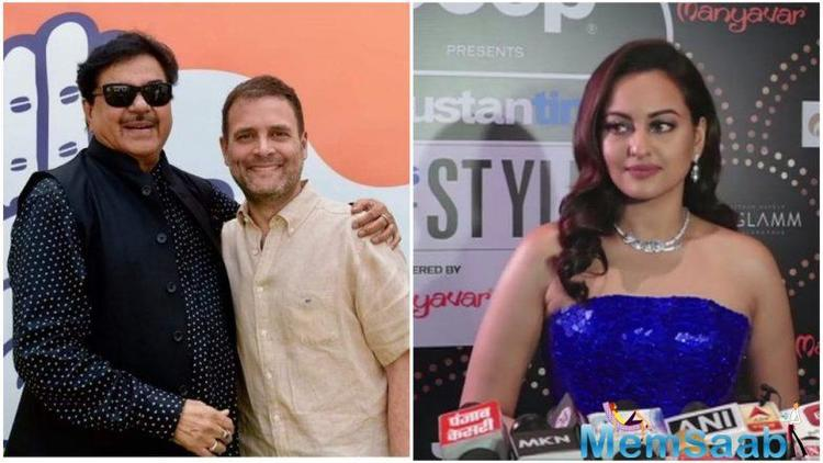 Sonakshi, who was speaking at an award event here, said her father Shatrughan should have left the BJP long ago.