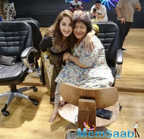 Having worked with Saroj for a long time, Madhuri feels her relationship with the choreographer has grown stronger.