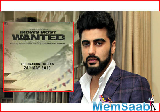 The makers released a new poster of Arjun Kapoor-starrer India's Most Wanted to reveal that the teaser of the film will be out tomorrow (April 16).