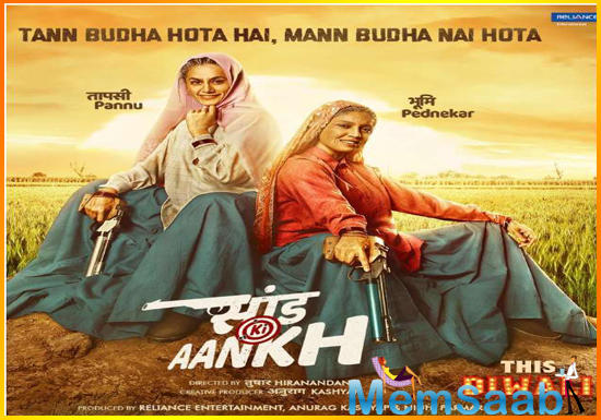 Directed by Tushar Hiranandani, Saand Ki Aankh is produced by Anurag Kashyap and Nidhi Parmar. The tagline of the film on its poster reads,