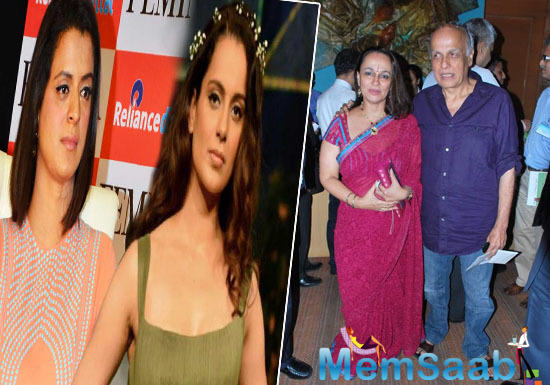 Further alleging Mahesh Bhatt for misbehaving with Kangana she said that he had thrown a chappal over him at the screening of Woh Lamhe.
