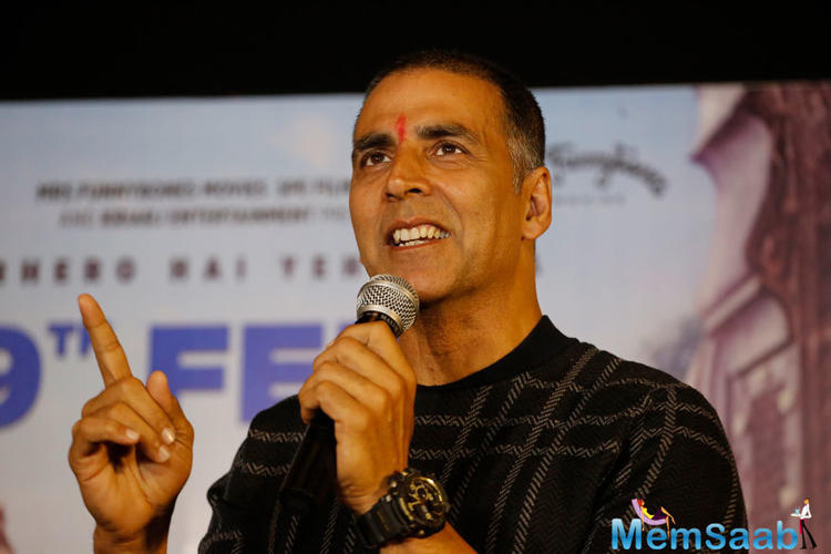 Akshay Kumar took to social media to share a piece of information that later triggered speculation.