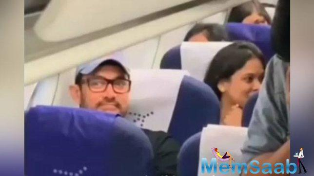 Aamir looks amused by the attention he was receiving.