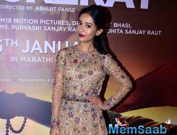 She essayed the role of Meena Tai Thackeray in the biopic of late Shiv Sena supremo Bal Thackeray.