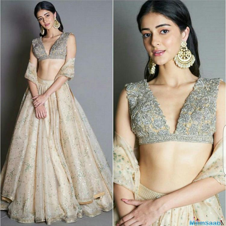The actress has earlier too posted many pictures on her social media account where she is seen wearing lehengas and she looks like a treat to sore eyes in all of them.