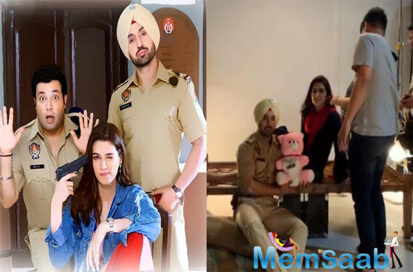 Kriti and actor-singer Diljit Dosanjh have collaborated for the first time in Arjun Patiala.