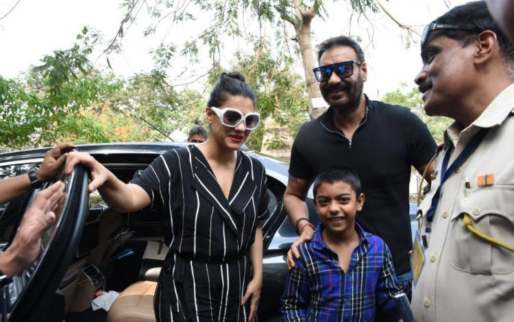 Ajay Devgn and Kajol start their Monday morning by stepping out to cast their vote