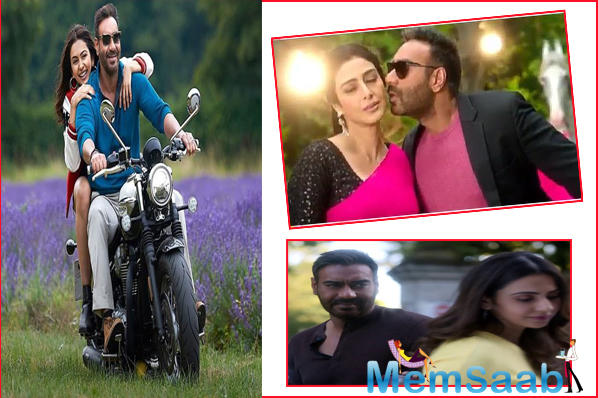 The trailer of the film released earlier this month. The trailer shows Ajay's character Ashish, who is 50, falling for Rakul's character Ayesha, who is 26.