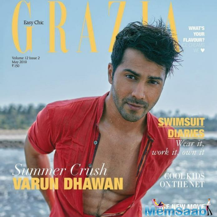 "Varun's intense look teamed up with the messy hair can give many stars a run for their money. He captioned the cover as, ""Life's a beach."" Varun surely seems to be soaring the temperatures just too high."
