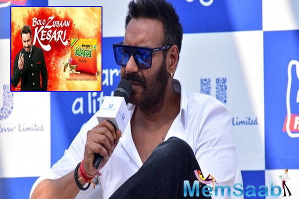 Nearly 1000 pamphlets addressed to Devgn, in which Nanakram asks the actor about how much he or his family chew tobacco, have been circulated and pasted on the walls in Sanganer, Jagatpura and nearby areas of the city.