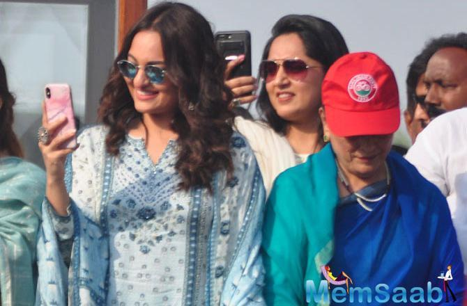 Sonakshi Sinha says she didn't become a part of her mother Poonam Sinha's rally as a celebrity, but as a daughter.