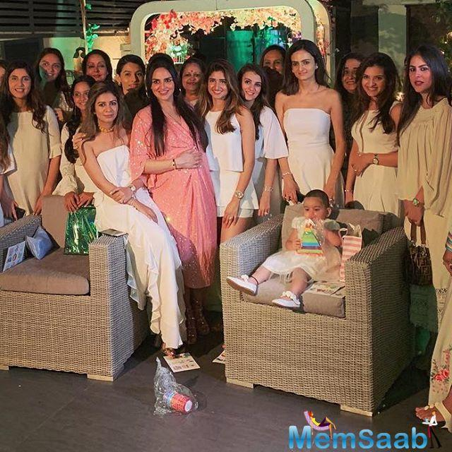 Hema Malini's actor-dancer daughter, Esha Deol, threw a surprise bash on Monday, May 6. The bash was hosted to celebrate Esha's second baby shower.