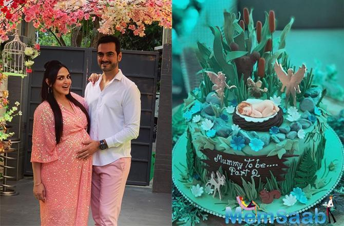 The other photo shared by Esha had her posing with husband Bharat Takhtani and the delicious-looking cupcakes and amazing desserts to binge on.