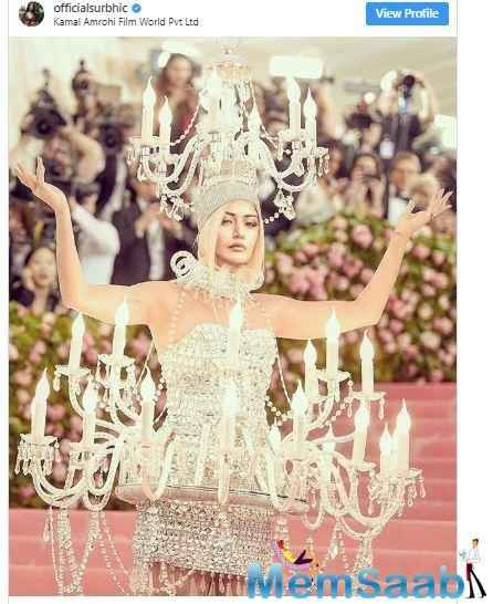 Surbhi shared Katy Perry's chandelier look but with a twist. She photoshopped Katy's picture with hers and the end result was simply hilarious.