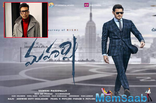 Superstar Mahesh Babu's character, Rishi which is winning hearts across quarters for his simplicity and an outspoken college boy role, a go-getter who wants to make it big in life receives best wishes from none other than Karan Johar.